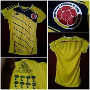 Adidas Federacion Columbiana Futbol Soccer Jersey